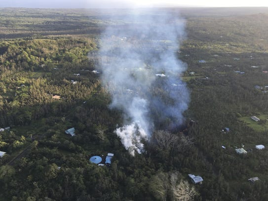 In this photo released by U.S. Geological Survey, lava