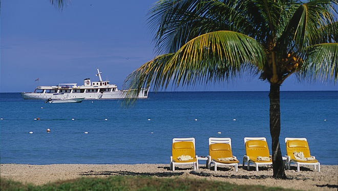 Negril's famous seven mile beach in Jamaica.