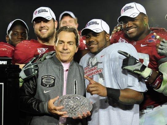 USP NCAA Football_ BCS National Championship-Alabama vs Texas