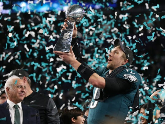 Feb 4, 2018: Philadelphia Eagles quarterback Nick Foles