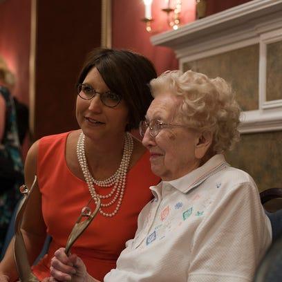 Athena winner Jennifer Gorsuch Walters (left), with