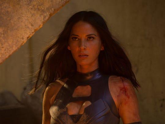 Psylocke (Olivia Munn) is one of Apocalypse's deadly