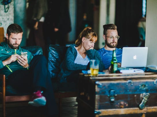 KEX Hostel is a great place to unwind and charge up, perhaps while enjoying a beer, some tasty snacks and chats with new friends