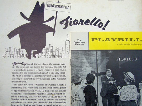 Album cover and Playbill, with Tom Bosley, for original