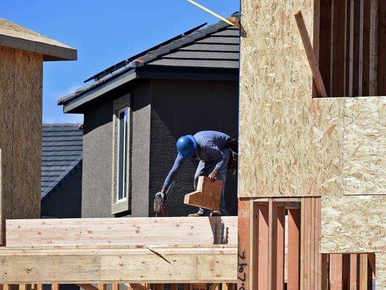 Construction at a housing project in Sparks. Construction