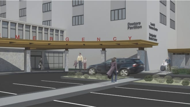 A rendering of the hospital's plan.