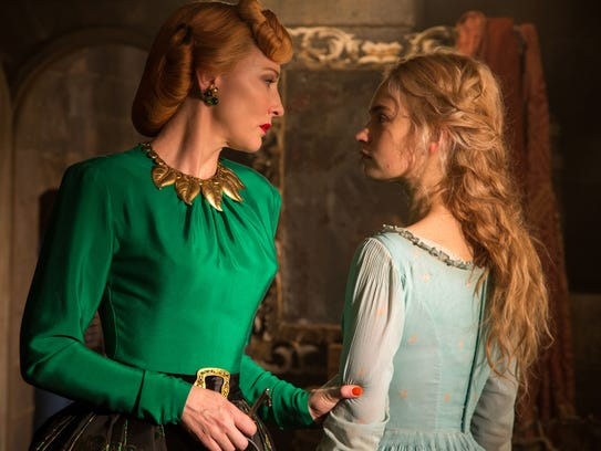 Lily James is Cinderella and Cate Blanchett is the