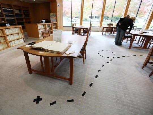 A Murder Mystery Tour was part of the open house and scavenger hunt at the Oregon State Archive Saturday, Oct. 31, 2015, in Salem, Ore.