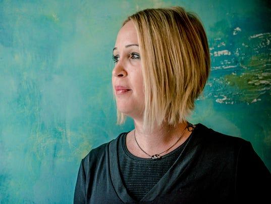 Portrait of a Beautiful Blond Mid Adult Woman, Paris, France