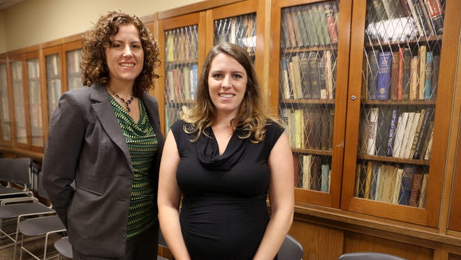 Dr. Jennifer Cavitt, neurologist with UC Health, left, and Megan Patel, who is participating in a study on treating epilepsy in pregnant women. A national study is trying to determine if new drugs to control epilepsy are safe.