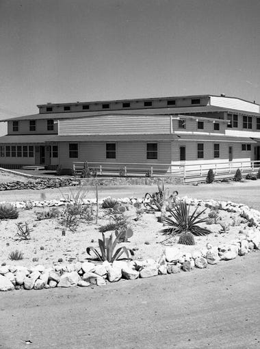 Mountain View Officers Club primary facade looking south, circa 1943.