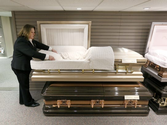 Caskets would be subject to a 7 percent state sales tax, under a property tax elimination plan in Pennsylvania.