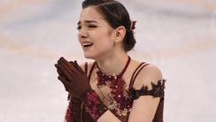 Evgenia Medvedeva of the Olympic Athletes from Russia.
