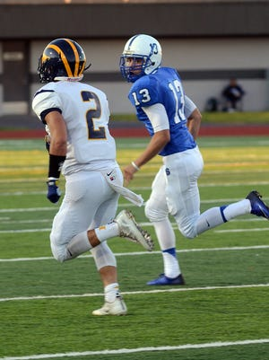 After rushing as a team for only 33 yards in Week 2, Jack Slavin (2) and the Hartland offense hope to get back on track against Canton on Friday night.
