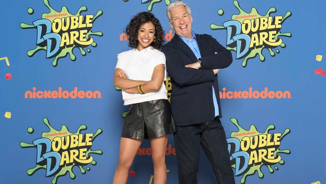 Liza Koshy and Marc Summers will host the reboot of Double Dare on Nickelodeon. Summers was the original host from 1986-1993.
