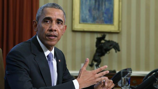 President Obama vetoed a defense policy bill, last October.