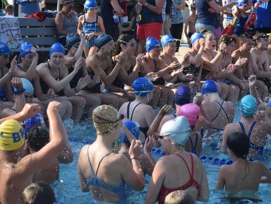 Silverside high school swimmers leading the Silverside