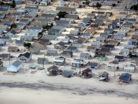 Seaside Heights covered in sand.