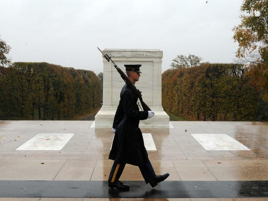 Old Guard at Tomb of the Unknown Soldier in Arlington