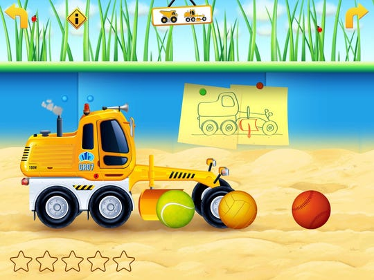 Cars in sandbox Construction
