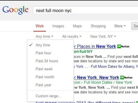 google time frame