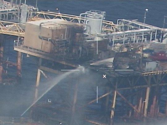 Gulf oil rig fire