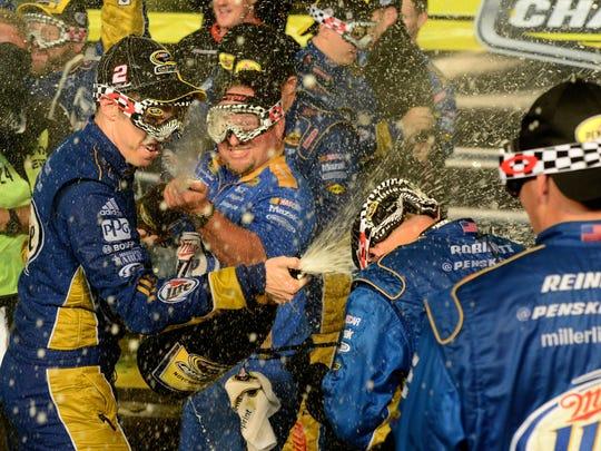 brad keselowski champagne 11-18-2012