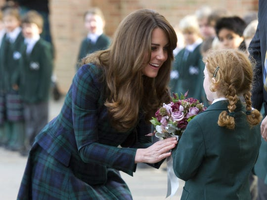 Catherine Duchess of Cambridge with student