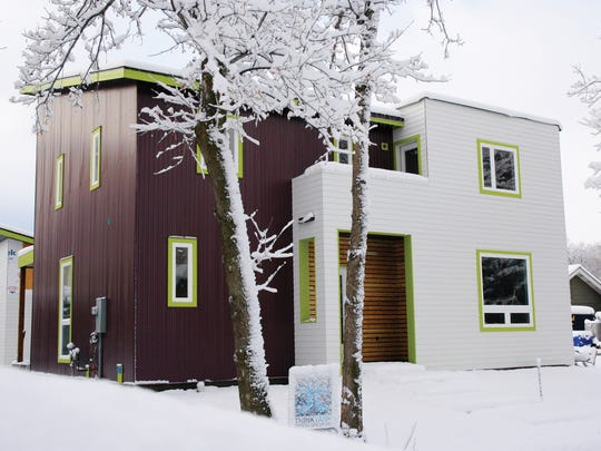 All-American home in winter