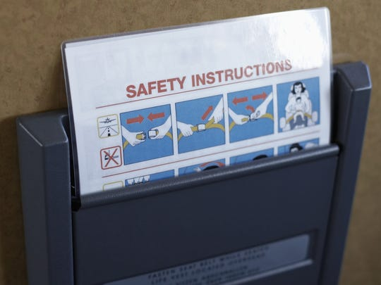Safety instructions on plane - DO NOT OVERWRITE