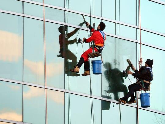 Superhero Window Washers Surprise Sick Children