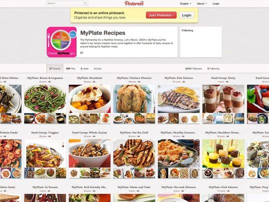 MyPlate recipes on Pinterest