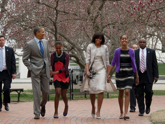 Obama family on Easter Sunday