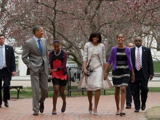 Obama family on Easter Sunday