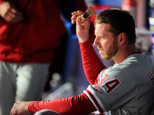 2013-04-03 Frustrated Roy Halladay