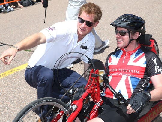 Prince Harry hand cycling