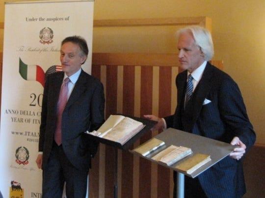 Italy's Claudio Bisogniero and Robert Edsel
