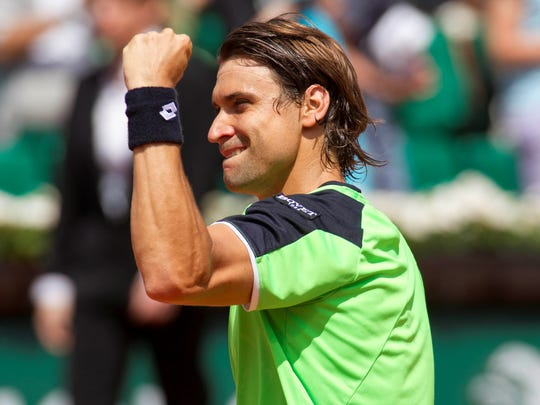 2013-6-2 rg day 8 david ferrer fist pump usat