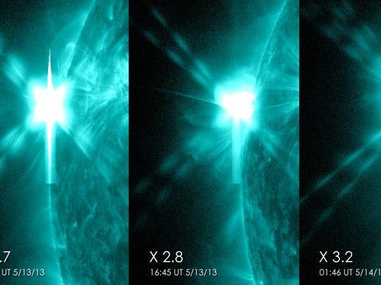 solar flares trio
