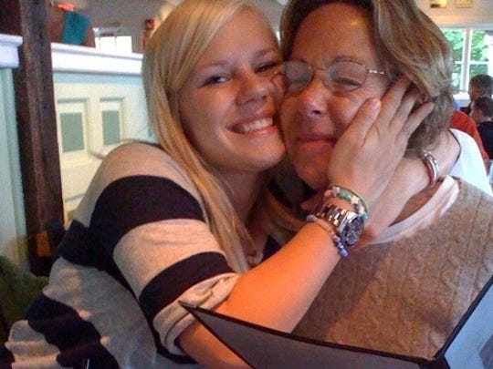 Molly Waugh poses with her mother, who was diagnosed with dementia three years ago. Waugh will be taking on the Cape Cod bike trail and hosting a fishing tournament and barbecue on The Longest Day.