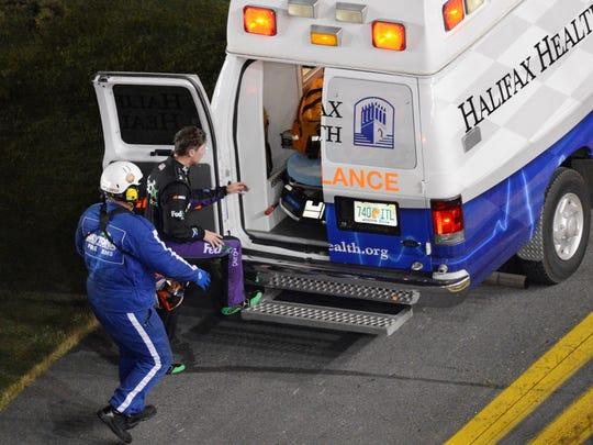 7-11-13-denny hamlin-ambulance