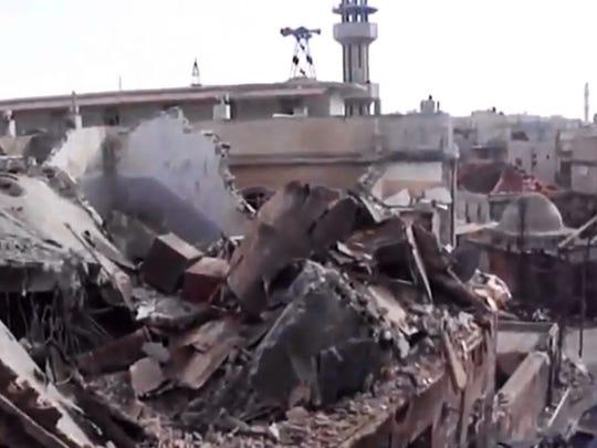 Syria Homs shelling