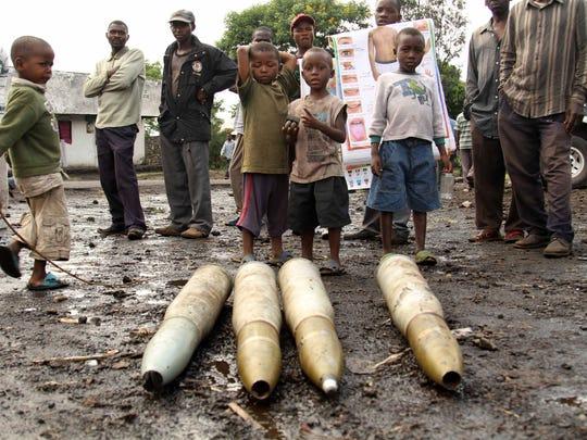 Congo M23 tank shells