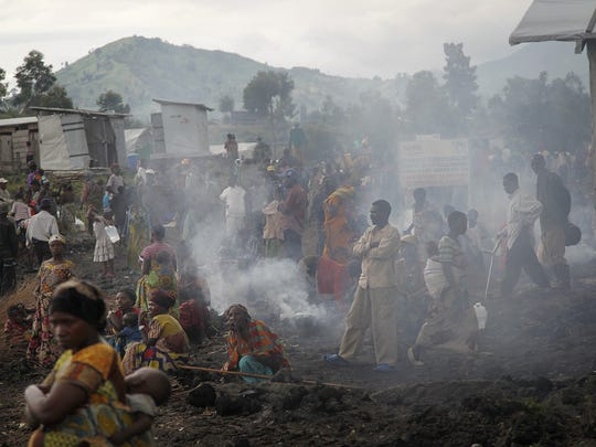 Congolese refugee camp