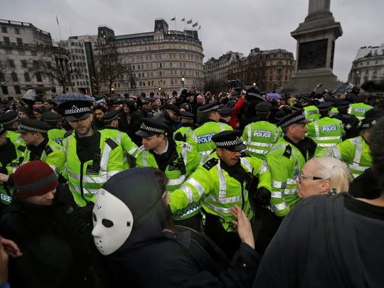 Anti-Thatcher protests in London