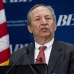 Larry Summers, former Treasury secretary and a former economic adviser to President Obama, speaks Monday at a conference hosted by the National Association for Business Economics in Arlington, Va.
