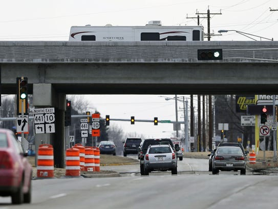 The construction of a diverging diamond interchange at Oneida Street and State 441 will begin soon. Ron Page/USA TODAY NETWORK-Wisconsin.