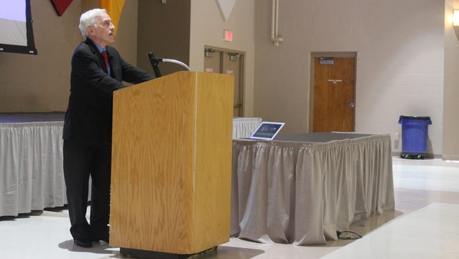 Approximately 100 people from law enforcement, civic, and emergency response departments attended a seminar hosted by Dr. Jeffrey Simon about the state of modern terrorism and lone wolf shooters.