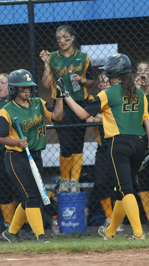Lakeland defeated Goshen 18-0 in the girls Class A