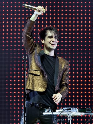 Musician Brendon Urie of Panic! At the Disco performs onstage during 106.7 KROQ Almost Acoustic Christmas 2015 at The Forum on December 13, 2015 in Los Angeles, California. Panic! At the Disco will perform in April in West Lafayette.